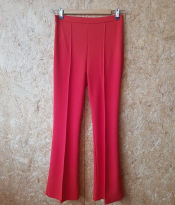 Red Flared Pants