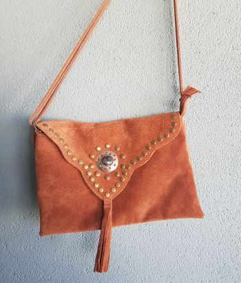 Suede Camel Bag
