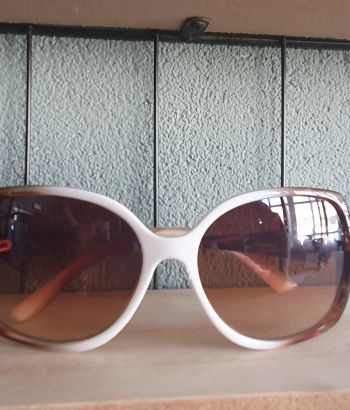 Brown White Sunglasses